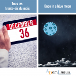 Les proverbes anglais – « Once in a blue Moon »